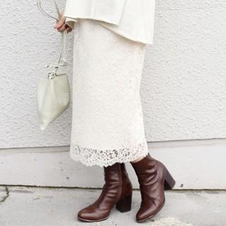 シップス(SHIPS)のSHIPS レースタイトスカート(ひざ丈スカート)