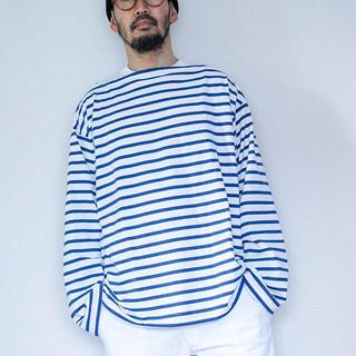 コモリ(COMOLI)の20aw outil バスクシャツ ボーダー tricot aast 3(Tシャツ/カットソー(七分/長袖))