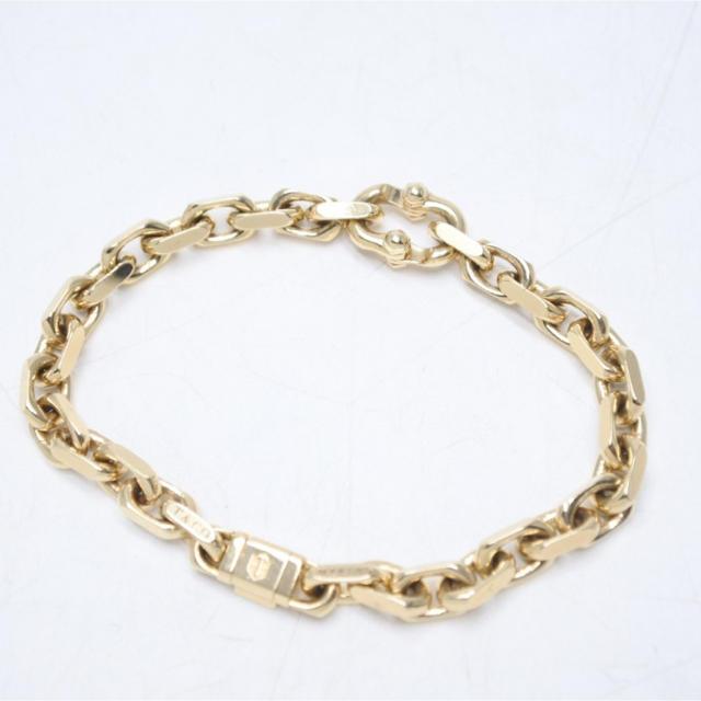 Tiffany & Co.(ティファニー)のティファニー メイカーズ ナロー チェーン ブレスレット メンズ AU750 メンズのアクセサリー(ブレスレット)の商品写真
