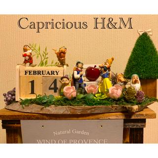 フェイクグリーン カレンダー付き白雪姫と七人の小人✩.*˚(その他)