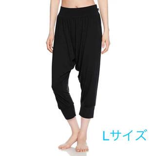 Atsugi - 新品 アツギ    UVカット サルエルパンツ ヨガパンツ Lサイズ ブラック