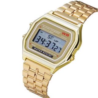 デジタル腕時計 ゴールド チープカシオ 風 カップル ペア でどうぞ!(腕時計(デジタル))