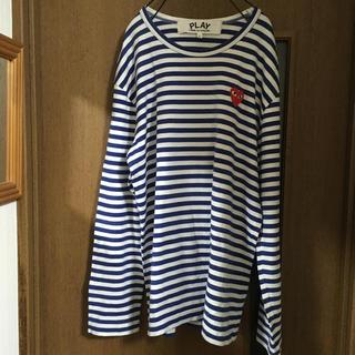 コムデギャルソン(COMME des GARCONS)のplay コムデギャルソン 青白ボーダー メンズL(Tシャツ/カットソー(七分/長袖))
