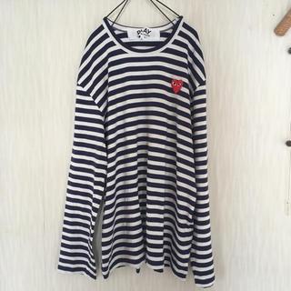 コムデギャルソン(COMME des GARCONS)のplay コムデギャルソン 紺白ボーダー メンズ L(Tシャツ/カットソー(七分/長袖))