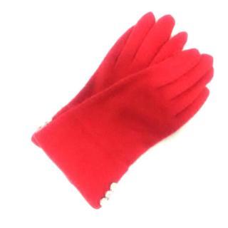 バーバリー(BURBERRY)のバーバリー 手袋 レディース レッド(手袋)