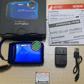 フジフイルム(富士フイルム)のFUJI FILM FinePix XP FINEPIX XP120 BLUE(コンパクトデジタルカメラ)