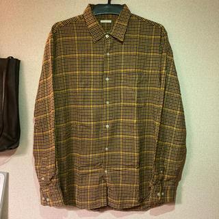 GU - GU チェックシャツ  ネルシャツ