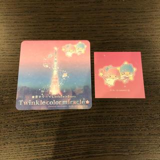 サンリオ(サンリオ)のセット【コースター+シール】キキララ 東京タワー サンリオa(キャラクターグッズ)