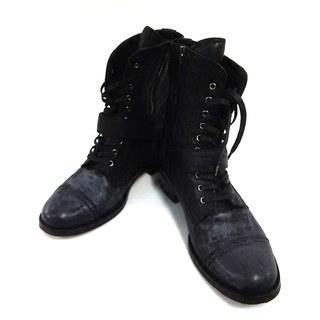 ミュウミュウ(miumiu)のミュウミュウ ショートブーツ 35 1/2 黒(ブーツ)