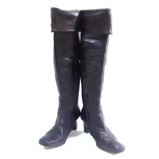 ブルーノマリ(BRUNOMAGLI)のブルーノマリ ロングブーツ 35 1/2 黒(ブーツ)