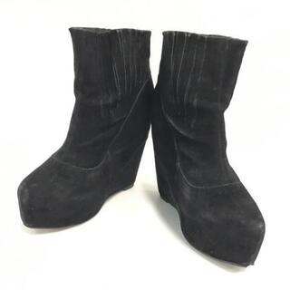 ルシェルブルー(LE CIEL BLEU)のルシェルブルー ショートブーツ 38 1/2 黒(ブーツ)