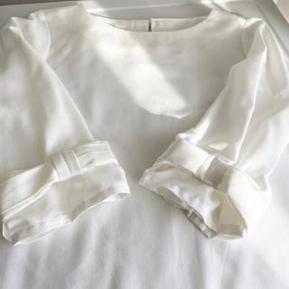 ベルメゾン(ベルメゾン)の袖リボンブラウス プルオーバー 七分袖(シャツ/ブラウス(長袖/七分))