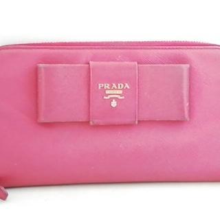 プラダ(PRADA)のPRADA(プラダ) 長財布 - ピンク レザー(財布)