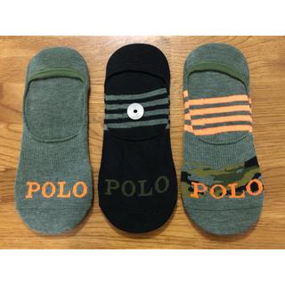 ラルフローレン(Ralph Lauren)の新品ポロラルフローレン メンズ靴下 ソックス  3足セットM1(ソックス)
