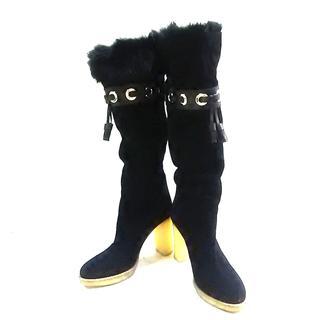 グッチ(Gucci)のGUCCI(グッチ) ロングブーツ 34 1/2 C 黒(ブーツ)