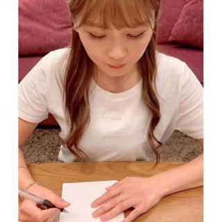 宇野実彩子 LAVANDA 刺繍Tシャツ