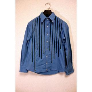 カラー(kolor)の【良品】kolor テープ縫い付けストライプシャツ カラー サイズ1(シャツ)