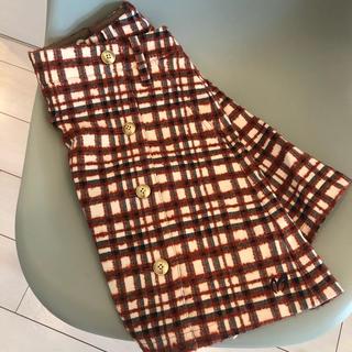 パーリーゲイツ(PEARLY GATES)の美品 ウールストレッチ スカート (ひざ丈スカート)