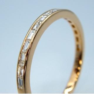 K18PG ピンクゴールド シンプル ダイヤモンド リング(リング(指輪))