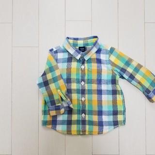 ギャップ(GAP)のGAP  長袖チェックシャツ サイズ80(シャツ/カットソー)
