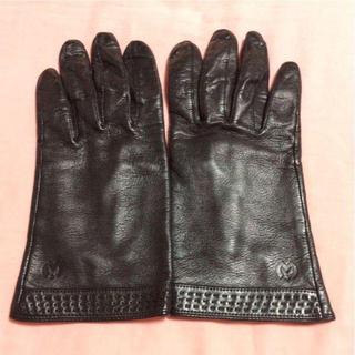 ミラショーン(mila schon)の革手袋  mila schon ミラショーン ブラック mila schon(手袋)