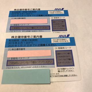 ANA(全日本空輸) - ANA株主優待券 2枚セット 番号通知にも対応