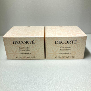 コスメデコルテ(COSME DECORTE)のコスメデコルテ フェイスパウダー 20g #80 グロウピンク 新品 2個(フェイスパウダー)