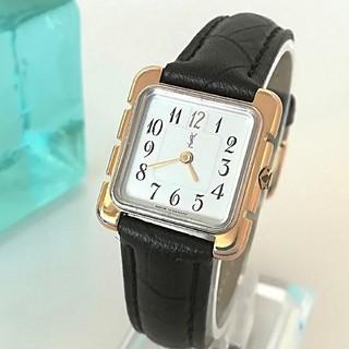 サンローラン(Saint Laurent)のサンローラン 極希少 白文字盤 アラビア レディース ウォッチ腕時計 新品レザー(腕時計)