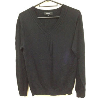 コムサイズム(COMME CA ISM)のコムサ 黒 ニット (ニット/セーター)