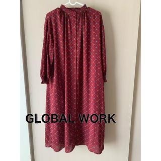 グローバルワーク(GLOBAL WORK)のワンピース グローバルワーク(ひざ丈ワンピース)