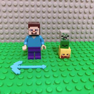 Lego - レゴ マインクラフト  スティーブ ダイアモンド ツルハシ