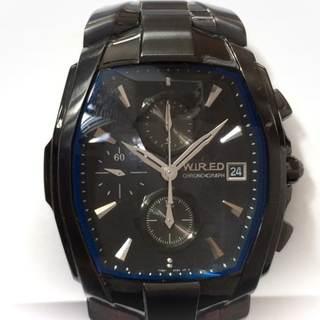 ワイアード 腕時計 7T92-0HT0 メンズ 黒(その他)