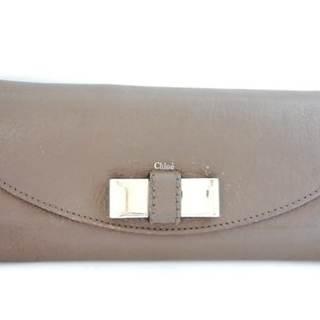 クロエ(Chloe)のクロエ 長財布 リリィ ブラウン×シルバー(財布)