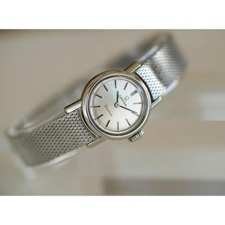 オメガ(OMEGA)の美品 オメガ シーマスター ジュネーブ シルバー 手巻き レディース Omega(腕時計)