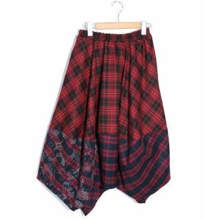 スカラー(ScoLar)のスカラー ScoLar チェック切替スカート 新品 未使用品(ひざ丈スカート)