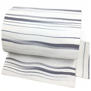 未使用 美品 上質 正絹 九寸名古屋帯 ホワイトグレー 長さ375 中古品