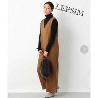 LEPSIM - LEPSIM☆Vネックワイドオールインワン ブラウン