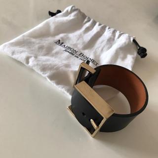 DEUXIEME CLASSE - メゾンボワネ maisonbonet レザーバングル 黒 ブラック ブレスレット