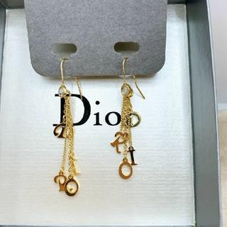 クリスチャンディオール(Christian Dior)のCD542 未使用【Dior ディオール】フックピアス ストーン ゴールド(ピアス)