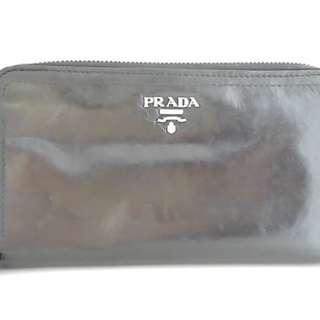 プラダ(PRADA)のプラダ 長財布 - 黒 ラウンドファスナー(財布)