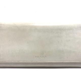 プラダ(PRADA)のPRADA(プラダ) 長財布 - 白 レザー(財布)