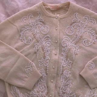ロキエ(Lochie)の連休限定値下げ❤︎50〜60's vintage beads cardigan(カーディガン)