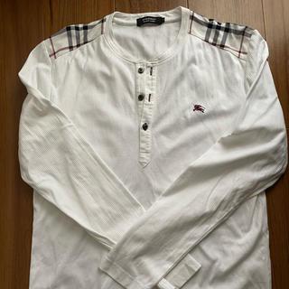 BURBERRY BLACK LABEL - BURBERRY BLACK LABEL長袖Tシャツ(白)