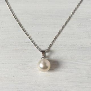 SV925♡ひとつぶ・あこや真珠のネックレス 7.5~8.0mm