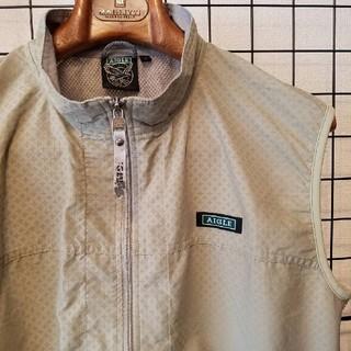 エーグル(AIGLE)のAIGLE ブランドロゴ刺繍入り Zip ナイロンベスト Nylon Vest(ベスト)