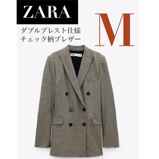 ザラ(ZARA)の【新品/タグ付き】 ZARA ダブルブレスト仕様チェック柄ブレザー ジャケット(テーラードジャケット)