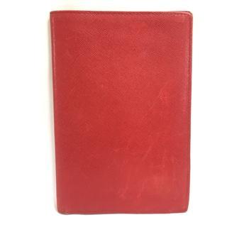 プラダ(PRADA)のPRADA(プラダ) 長財布 - レッド レザー(財布)