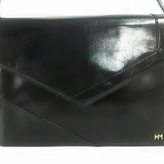 ハナエモリ(HANAE MORI)のハナエモリ ショルダーバッグ 黒 レザー(ショルダーバッグ)