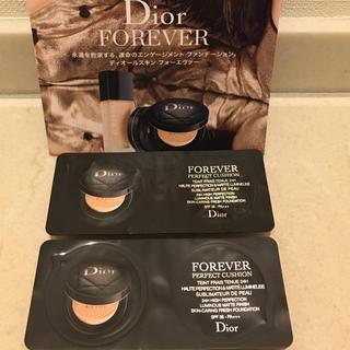ディオール(Dior)のディオール サンプル(スキンフォーエヴァークッション)ファンデーション(ファンデーション)