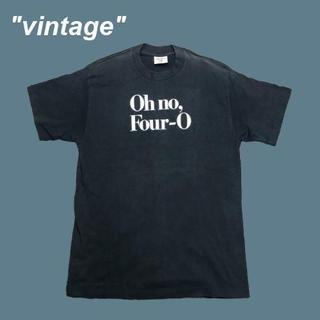 アメリヴィンテージ(Ameri VINTAGE)の【vintage】オーノーフォーオー☆USA製メッセージTシャツB0015(Tシャツ/カットソー(半袖/袖なし))